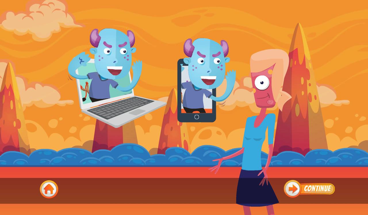 Keaveny R 2020 Cyber Bullying Digital Image From Kloog 2 Social Skills App